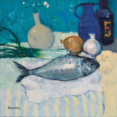 Still Life with Fish and Garlic