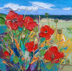 East Lothian Fields with Poppies