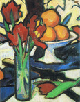 Still Life with Tulips and Oranges